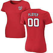 Majestic Women's Full Roster Washington Nationals Red T-Shirt