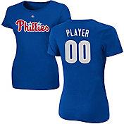 Majestic Women's Full Roster Philadelphia Phillies Royal T-Shirt