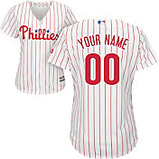 Majestic Women's Custom Cool Base Replica Philadelphia Phillies Home White Jersey