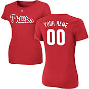 Majestic Women's Custom Philadelphia Phillies Red T-Shirt