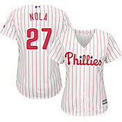 Majestic Women's Replica Philadelphia Phillies Aaron Nola #27 Cool Base Home White Jersey