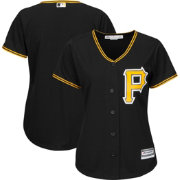 Majestic Women's Replica Pittsburgh Pirates Cool Base Alternate Black Jersey