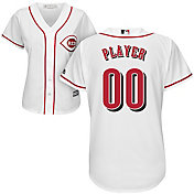 Majestic Women's Full Roster Cool Base Replica Cincinnati Reds Home White Jersey