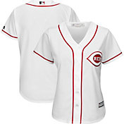 Majestic Women's Replica Cincinnati Reds Cool Base Home White Jersey