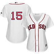 Majestic Women's Replica Boston Red Sox Dustin Pedroia #15 Cool Base Home White Jersey