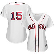 Majestic Women's Replica Boston Red Sox Dustin Pedroia #15 Cool Base Home White Jersey