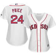 Majestic Women's Replica Boston Red Sox David Price #24 Cool Base Home White Jersey
