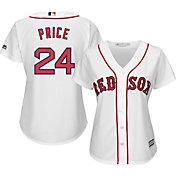 Majestic Women's Replica Boston Red Sox David Price #24 Cool Base Home White Jersey
