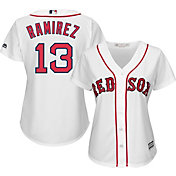 Majestic Women's Replica Boston Red Sox Hanley Ramirez #13 Cool Base Home White Jersey