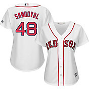 Majestic Women's Replica Boston Red Sox Pablo Sandoval #48 Cool Base Home White Jersey