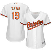 Majestic Women's Replica Baltimore Orioles Chris Davis #19 Cool Base Home White Jersey