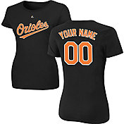 Majestic Women's Custom Baltimore Orioles Black T-Shirt