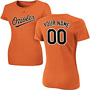 Majestic Women's Custom Baltimore Orioles Orange T-Shirt