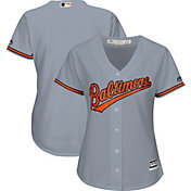Majestic Women's Replica Baltimore Orioles Cool Base Road Grey Jersey