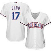 Majestic Women's Replica Texas Rangers Shin-Soo Choo #17 Cool Base Home White Jersey