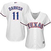 Majestic Women's Replica Texas Rangers Yu Darvish #11 Cool Base Home White Jersey