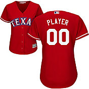 Majestic Women's Full Roster Cool Base Replica Texas Rangers Alternate Red Jersey