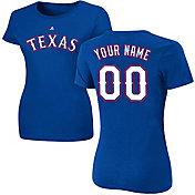 Majestic Women's Custom Texas Rangers Royal T-Shirt