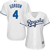 Majestic Women's Replica Kansas City Royals Alex Gordon #4 Cool Base Home White Jersey