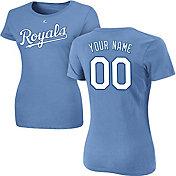 Majestic Women's Custom Kansas City Royals Light Blue T-Shirt