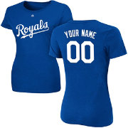 Majestic Women's Custom Kansas City Royals Royal T-Shirt