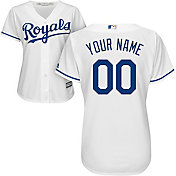 Majestic Women's Custom Cool Base Replica Kansas City Royals Home White Jersey