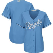 Majestic Women's Replica Kansas City Royals Cool Base Alternate Light Blue Jersey