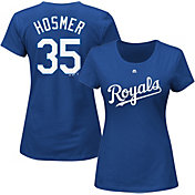 Majestic Women's Kansas City Royals Eric Hosmer #35 Royal T-Shirt