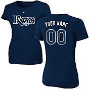 Majestic Women's Custom Tampa Bay Rays Navy T-Shirt