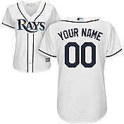 Majestic Women's Custom Cool Base Replica Tampa Bay Rays Home White Jersey