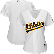 Majestic Women's Replica Oakland Athletics Cool Base Home White Jersey