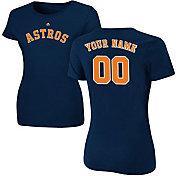 Majestic Women's Custom Houston Astros Navy T-Shirt