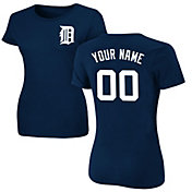 Majestic Women's Custom Detroit Tigers Navy T-Shirt
