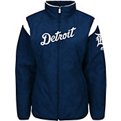 Majestic Women's Detroit Tigers Therma Base Navy On-Field Premier Jacket
