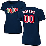 Majestic Women's Custom Minnesota Twins Navy T-Shirt