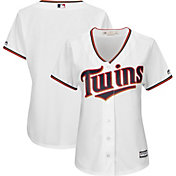Majestic Women's Replica Minnesota Twins Cool Base Home White Jersey