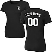 Majestic Women's Custom Chicago White Sox Black T-Shirt