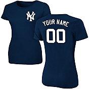 Majestic Women's Custom New York Yankees Navy T-Shirt