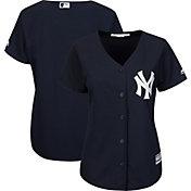 Majestic Women's Replica New York Yankees Cool Base Alternate Navy Jersey