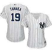 Majestic Women's Replica New York Yankees Masahiro Tanaka #19 Cool Base Home White Jersey