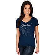 Majestic Women's New York Yankees Got Him Chasing Navy V-Neck T-Shirt