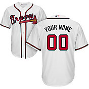 Majestic Youth Custom Cool Base Replica Atlanta Braves Home White Jersey