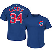 Majestic Youth Chicago Cubs Jon Lester #34 Royal T-Shirt