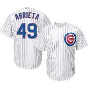 Majestic Youth Replica Chicago Cubs Jake Arrieta #49 Cool Base Home White Jersey
