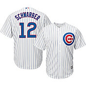 Majestic Youth Replica Chicago Cubs Kyle Schwarber #12 Cool Base Home White Jersey