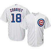 Majestic Youth Replica Chicago Cubs Ben Zobrist #18 Cool Base Home White Jersey