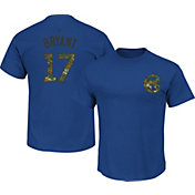 Majestic Youth Chicago Cubs Kris Bryant #17 Memorial Day Royal T-Shirt
