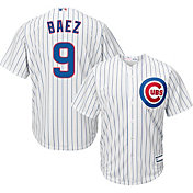 Youth Replica Chicago Cubs Javier Baez #9 Home White Jersey
