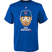 Majestic Youth Chicago Cubs Kris Bryant Emoji Royal T-Shirt