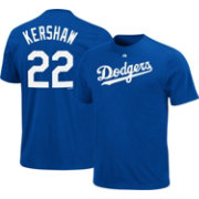 Majestic Youth Los Angeles Dodgers Clayton Kershaw #22 Royal T-Shirt